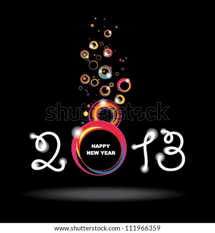 New year 2013 design. Abstract poster. - stock vector
