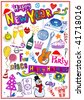 New Year Doodles - stock vector
