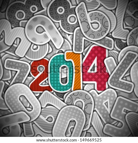 New 2014 year. Eps 10 - stock vector