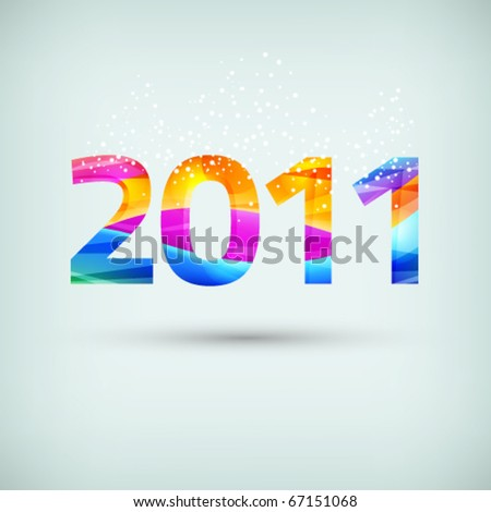 New Year 2011 eps10 abstract vector