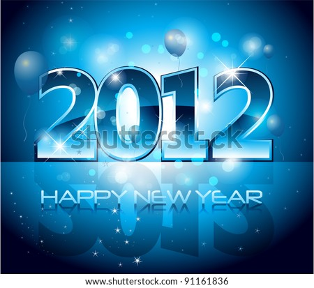 New year eve background - stock vector