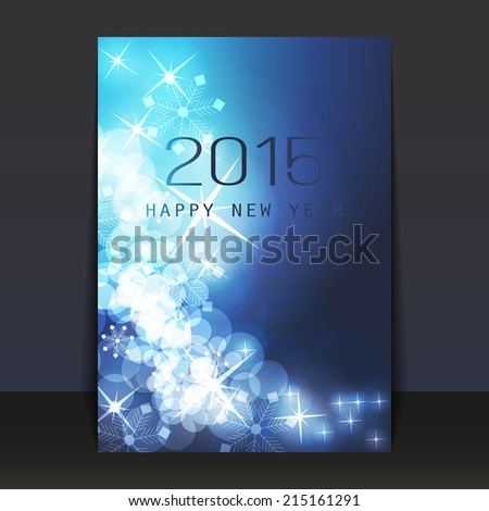 New Year Flyer or Cover Design - stock vector