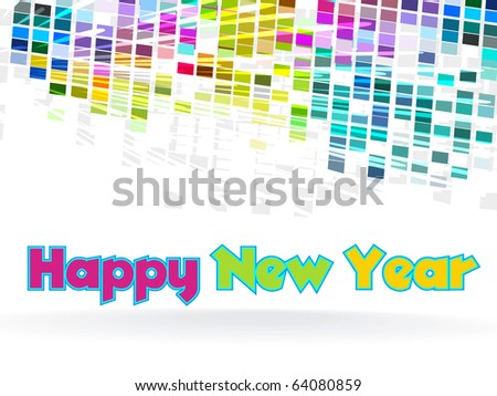 New Year  - funky graphic design - stock vector