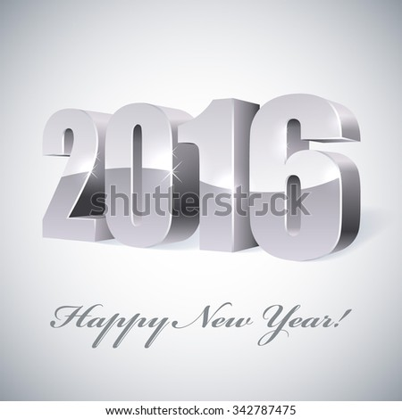 New 2016 year glossy figures vector illustration.  - stock vector