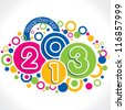 New year greeting card - stock vector