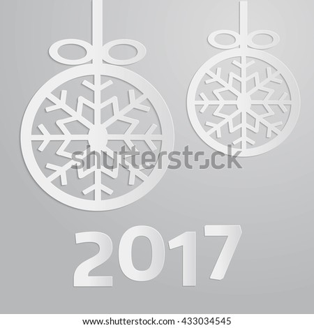 New Year 2017, Greeting card template, Vector EPS10
