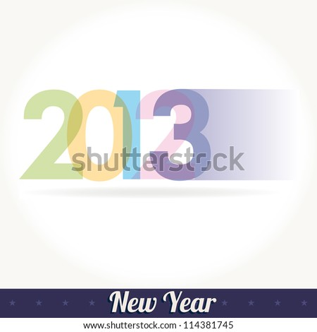 New 2013 year greeting card vector - stock vector