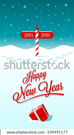 New year greeting card border between stock vector royalty free new year greeting card with border between years 2015 and 2016 m4hsunfo