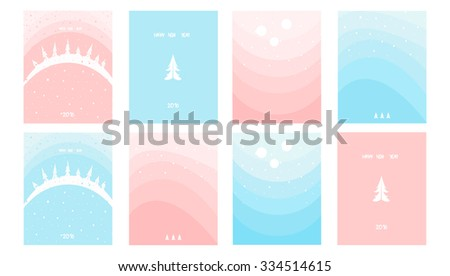 New Year greeting cards - stock vector