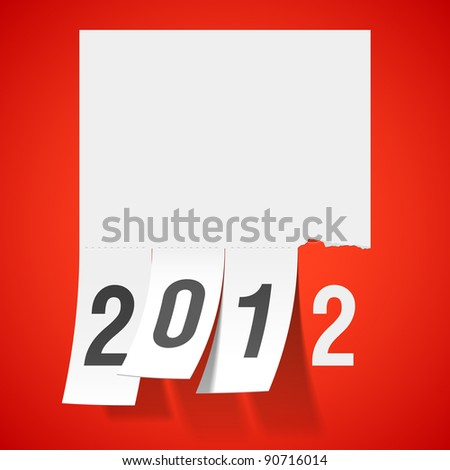 New Year greeting. Vector. - stock vector