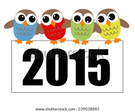 new year 2015 header or banner  - stock vector
