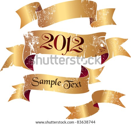 blank new year label