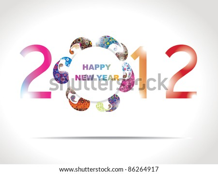 New year 2012 in white background. - stock vector