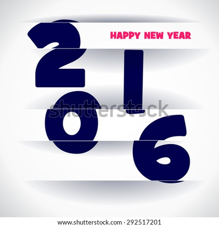 New year 2016 in white background. Abstract poster