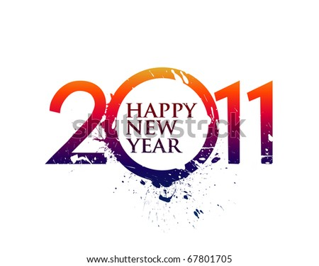 new year 2011 in white background. Vector illustration - stock vector