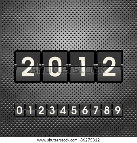 New 2012 Year  information display board vector illustration. Graphic Design Editable For Your Design.  - stock vector