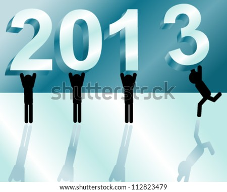 New Year 2013 is coming - stock vector