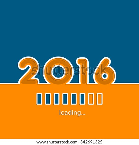New year 2016 loading background design with vivid colors - stock vector