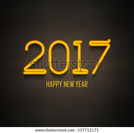 New Year 2017 Neon Sign