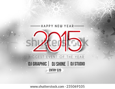 New Year Party Flyer & Poster Template Design - stock vector