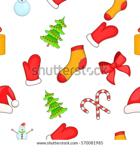 New year pattern. Cartoon illustration of new year vector pattern for web
