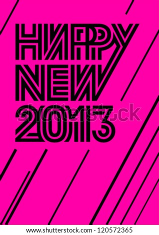 New Year poster - stock vector