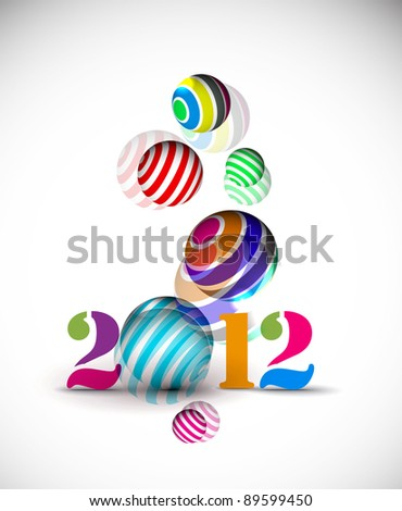 New year 2012 poster background. Vector illustration - stock vector
