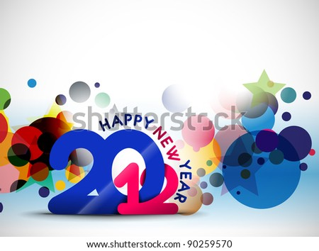 New year 2012 poster circle design. Vector illustration