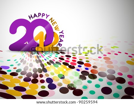 New year 2012 poster design. Vector illustration