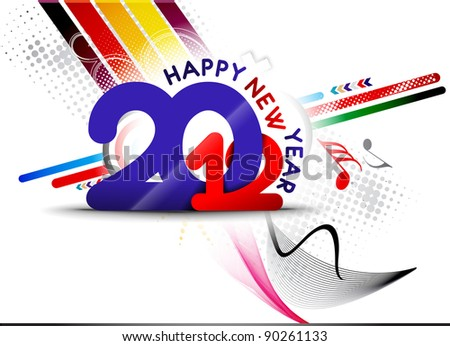 New year 2012 poster design. Vector illustration - stock vector