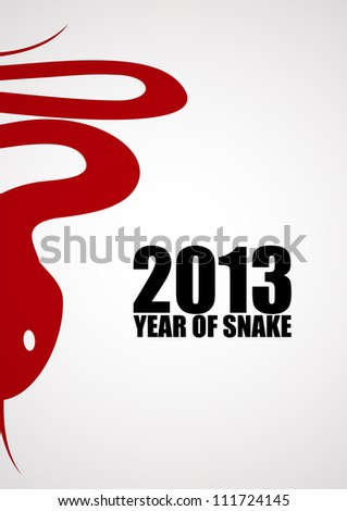 New year poster with a snake. EPS10 vector. - stock vector