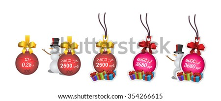 new year price tag collection