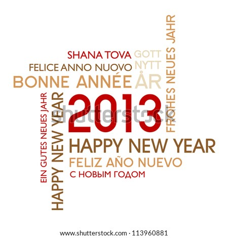 New year's 2013 - stock vector