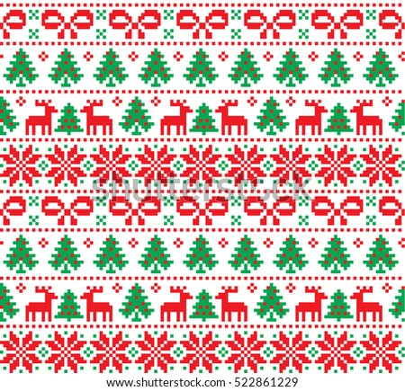 Free Ugly Christmas Sweater Design Pixel Vector