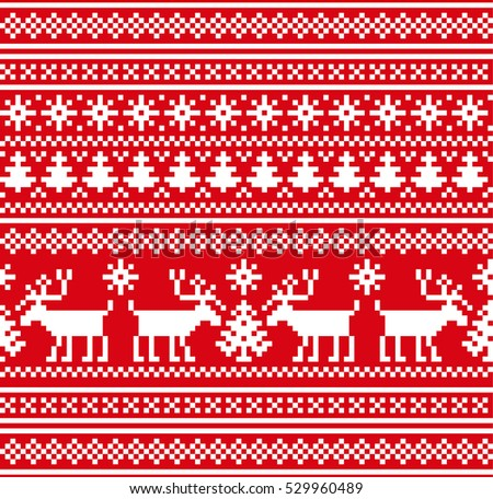Vector Illustration Ugly Sweater Party Seamless Stock Vector ...