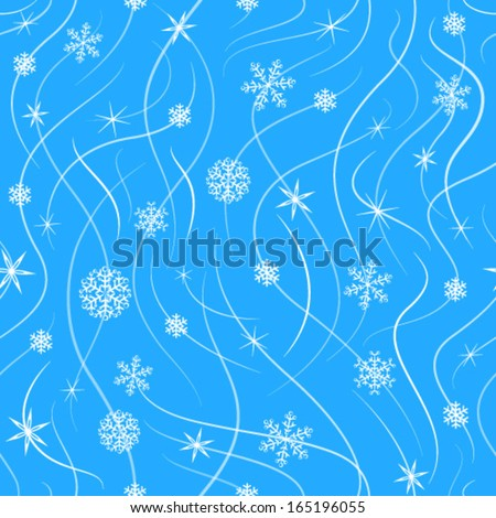 New Year's snow pattern - stock vector