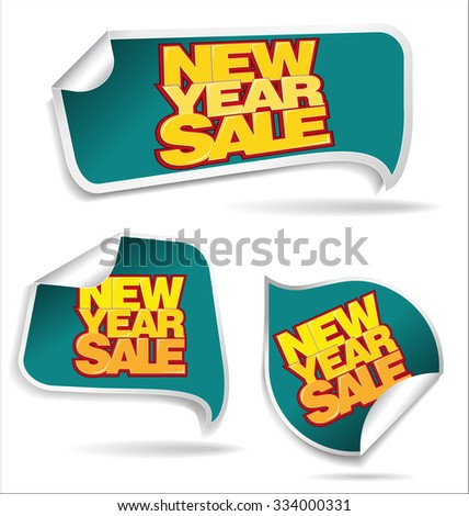 New Year sale price tag - stock vector