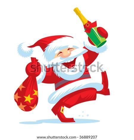 New year. Santa Klaus. - stock vector