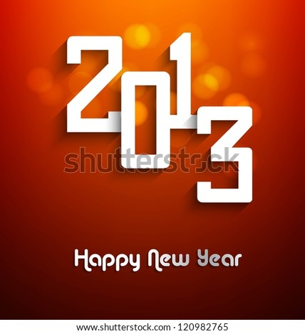 New year stylish 2013 bright colorful shiny vector design - stock vector
