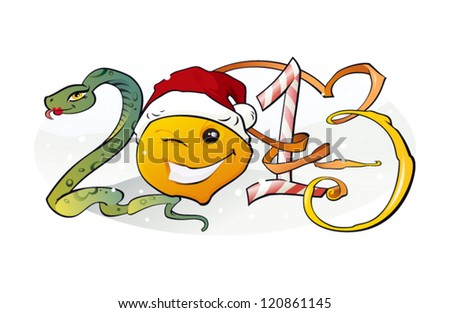 New Year 2013/ The vector illustration of the 2013 Concept - stock vector