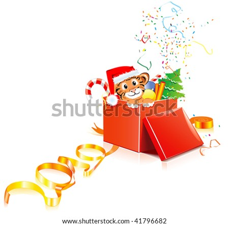New year tiger - stock vector
