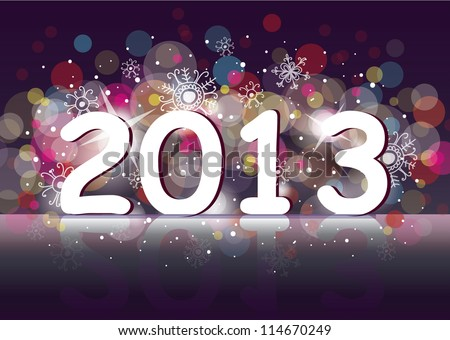 New year 2013 (two thousand and thirteen). - stock vector