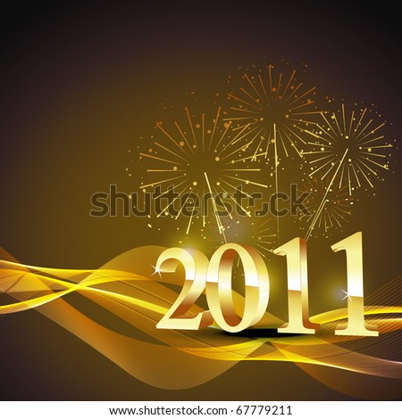 new year 2011 vector background - stock vector