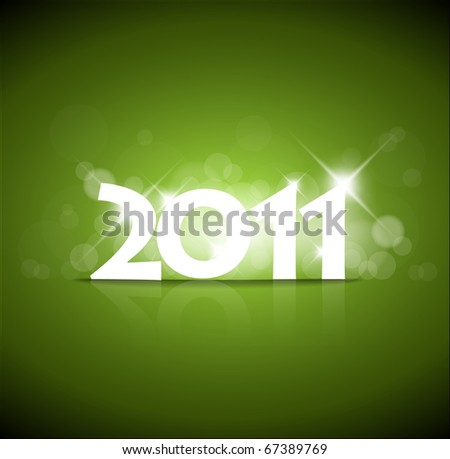 New Years card 2011 with back light and place for your text - stock vector