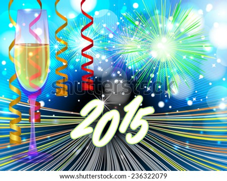 New Years eve background - stock vector