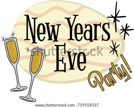 New Years Eve Party Invitation Header Stock Vector (Royalty Free ...