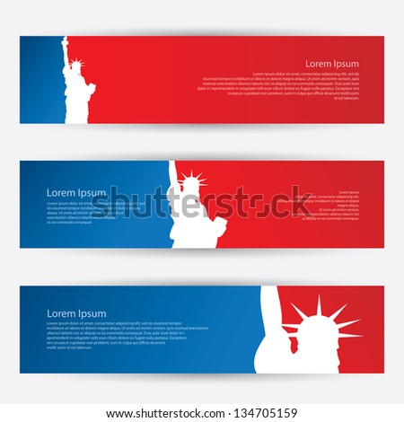 New York banners - vector illustration - stock vector