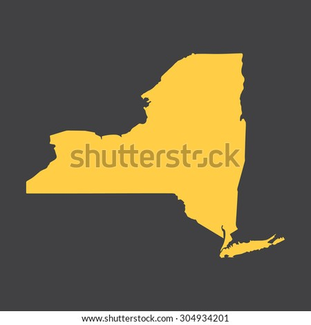 New York border,map. Vector illustration EPS8. - stock vector