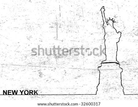 New York city background - stock vector