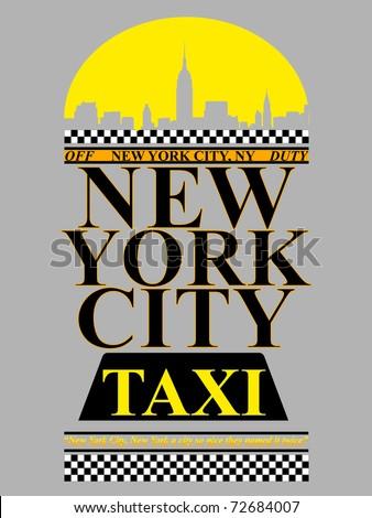 New York City Cabs - stock vector